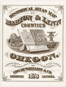 Publications: 1878 Historical Atlas Map of Marion and Linn Counties Cover