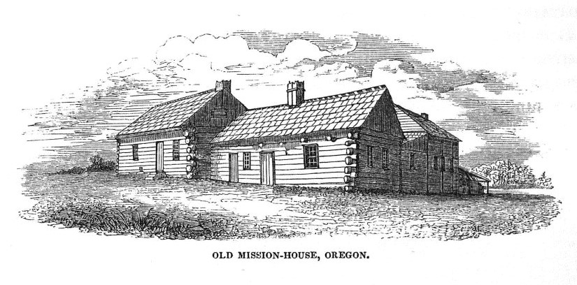 Original Methodist Mission houses sketched by Alfred T. Agate during the Wilkes Expedition 1838-1842. Photo Credit: M3 1986-007-0002