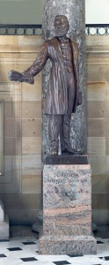 Jason Lee Statue in Constitution Hall photo courtesy of Architect of the Capitol website.