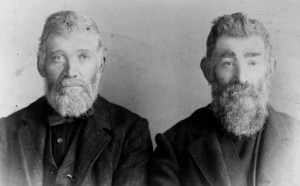 Clark S. Pringle and Octavius M. Pringle as older men. Octavius's memoirs provide a startling account of his own trip over the Oregon Trail as a 14-year-old boy. Photo Source: Oregon State Library 2007.001.1060.