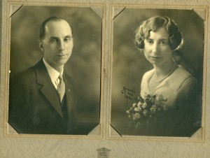 "Theron Silas ""Tom"" and Golda M. Rominger Woolson. 1925. WHC Collections 2016.101.0001.032"