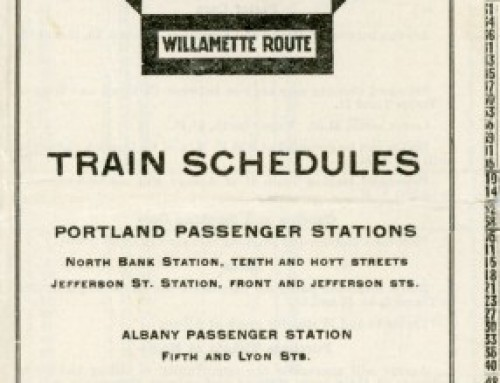 Oregon Electric Timetable, 1918