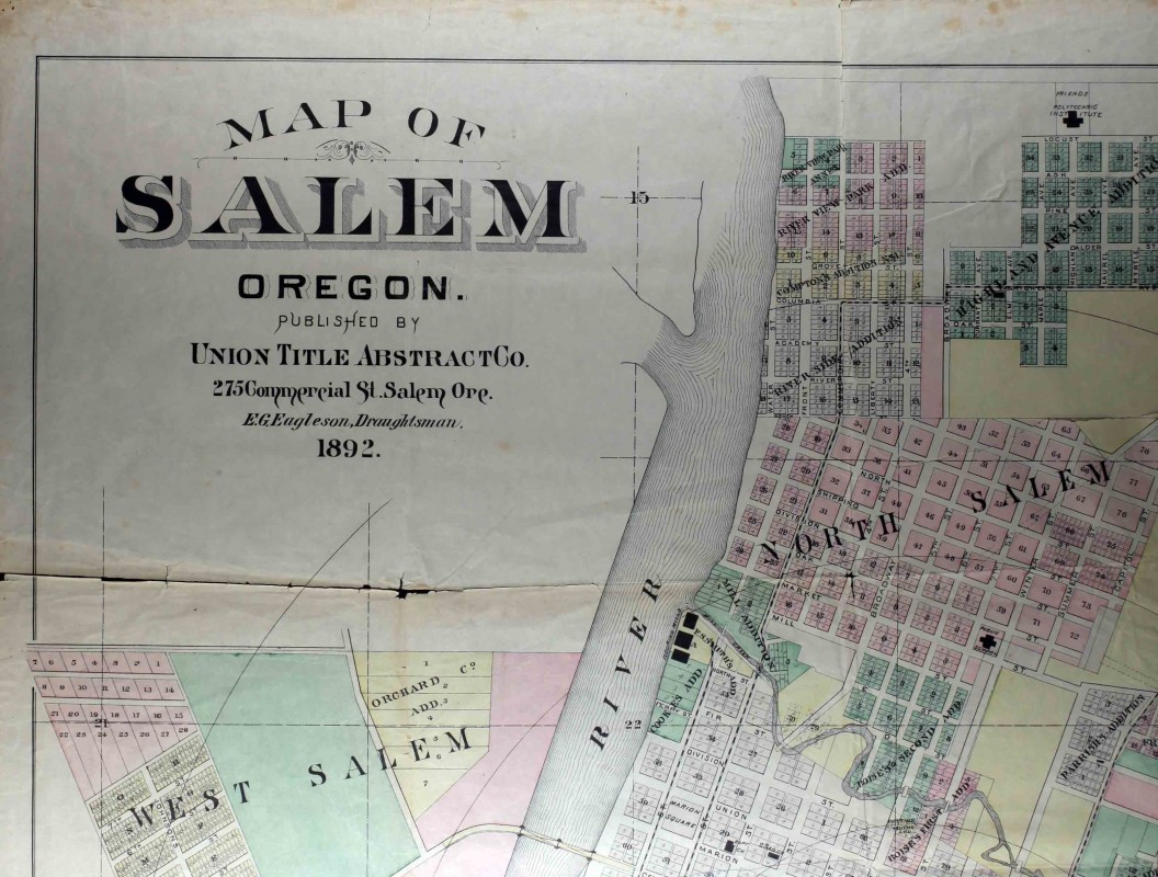 1892 Map of Salem – Willamette Heritage Center