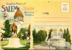 The front of a historic postcard.
