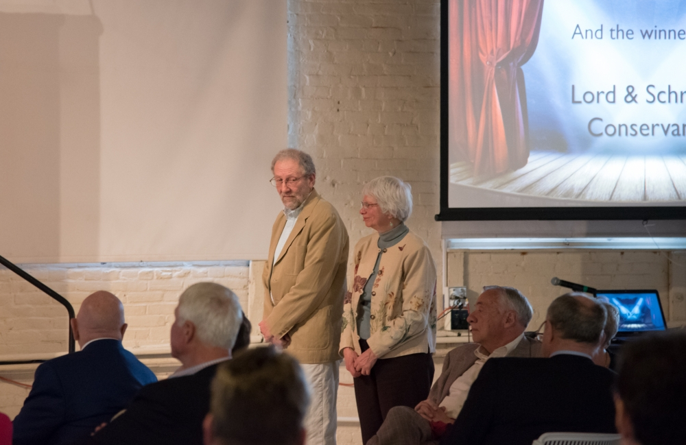 Representatives of the Lord & Schryver Conservancy, winners of the George Strozut Award for Historic Preservation